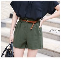 Wholesale Fashion High Waist Shorts Women Summer Pants Elasticity Military Green Women Shorts Leisure Large Size Clothing Pants Pretty Denim Shorts