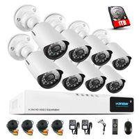 H.View 720P CCTV système de caméra de sécurité CCTV caméra système CCTV 8CH AHD DVR 8 720P caméra de sécurité Easy Smart Phone Access
