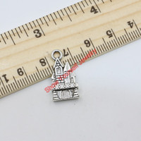 Wholesale Antique Silver Plated D House Castle Charms Pendants for Jewelry Making DIY Handmade x11mm B215