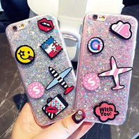 apple patch - For iPhone s Starry Flash Cartoon Patch Phone Case TPU Soft Shell opp Packup via DHL