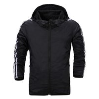 Wholesale New Men s windbreaker autumn long sleeve four pure colors sports wear leisure jacket Hooded sports coat