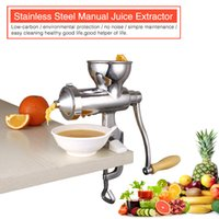 Wholesale Factory Direct Sale Single Gear SS manual fruit juice exactor Juicer masticator SS304 cold press juicer juicer extractor