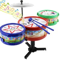 baby rocking machine - Mini Baby Infant Jazz Drum Rock Set Music Educational Toy Kids Early Learning Musical Drum Toy Christmas Xmas Gift K5BO