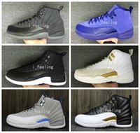 Wholesale 2016 New Air Retro Basketball Shoes OVO Wool Men Women Training Good Quality Leather Retro s XII Wings Outdoor Sports Sneakers
