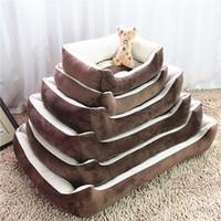 Wholesale Large Breed x90cm Pets Beds House Plus Big Cushion Soft Dog House cm Thick Dog Sofa Cotton Pet Beds Pets Mats Cats Bed Big Blanket