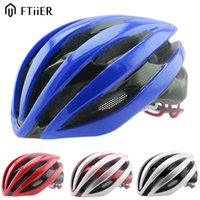 Wholesale Ftiier Ultralight Bicycle Helmet FT60 Cycling Helmet back light Integrally molded Road Bike Equipment Helmet Capacete Casco Ciclismo