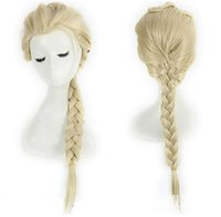 Wholesale Fashion wig anime COSPLAY wig Snow and ice colors spot Elsa aicha pigtails wig shape