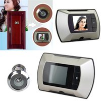 Wholesale door wide angle peephole camera viewer Cat s Eye doorbell HD camera High definition display outside the door picture