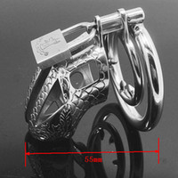 Wholesale Dragon Cock Lock Stainless Steel Lockable Penis Cage Penis Cock Ring Sleeve Male Chastity Device Cage Belt Cockring Sex Toys For Men MKC016