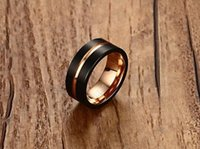 Wholesale new classic jewelry tungsten steel rose gold plated ring men s bracelet a retail three colors