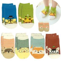 Unisex baby no show socks - 6 Pairs Baby Anti Slip Ankle Sock Toddler Non Skid No Show Animal Infant Socks