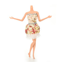 Wholesale Fashion Flower Doll Dresses Package Hip Skirt For Barbie Doll Handmade Dolls Accessories Clothes