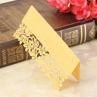Wholesale Wedding Place Name Cards Leaf Wedding Personalised Table Name Number Seating Decor Hollow Out Multicolor Choice