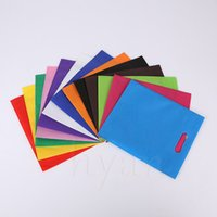 advertising packing bag - colors Blank non woven gift Bags cm Flat Hand Cloth Packing Bags Advertising promotional Bags