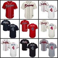 Wholesale Brandon Phillips Jersey Atlanta Braves Jersey Men Phillips Flexbase Cool Base All Stitched Embroidery Baseball Jersey