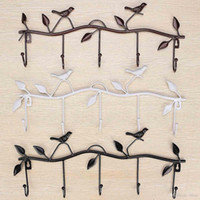 Wholesale Iron Wall Mounted Hook Clothes Hat Hanger Storage Organizer Bathroom Towel Rack Kitchen Hanging Holder Home Decor Racks