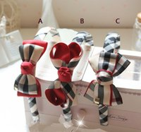 Wholesale 2016 s new hot sellings European and American children s hair Accessories handmade cloth Plaid Bow Headband British girls hoop drop shipping