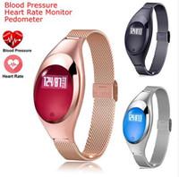 2017 Moda estilo Z18 Smart Band impermeable mujeres Smart Watch Bracket SmartBand podómetro ritmo cardíaco relojes Madre regalo joyas