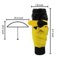 mini folding umbrella - Ultralight Mini Compact UV Sun Protection Clear Umbrella Portable Travel Vinyl Pocket Automatic Open Close Sun Umbrella SWISSANT