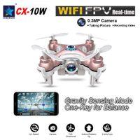 aerial wholesalers - 2016 New Mini Original Cheerson CX W CH Axis Gyro Wifi FPV Quadcopter RTF Mini RC Drone with MP Camera