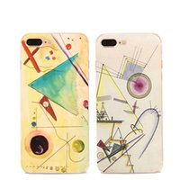 abstract oil paintings for sale - Oil painting abstracts cell Phone Cases for iphone S S plus cases Crystal TPU ultra thin back cover shell cases hot sale