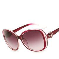 al por mayor marco de definición-Actriz coreana con gafas de sol Hot Full Frame Flores Diamantes Gafas de sol de gama alta De alta definición de conducción polarizada Conducción sombrilla