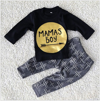 american sportswear brands - 2017 New Spring Autumn Boys Clothing Sets Baby Boy Long Sleeve T shirt Pants Set Kids Casual Suit Children Cotton Sportswear Outfits