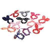 assorted hair color - 100pcs assorted color Cutie ponytail Holders hair accessories Elastic hair ties transparent or dot or stripe or chevron mixed colors