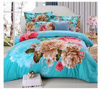 achat en gros de 3d bed set-2017 Nouveau lit Feuilles de literie de luxe en 3D Imprimer Ensembles de couette Reine couette de couette Couette Feuilles de lit