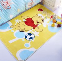 Wholesale cartoon children crawling pad thickening flannel carpet anti skid home mats