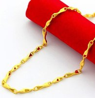 Wholesale 24 k yellow gold plated gold ingot necklace Men and women with money For a long time don t rub off