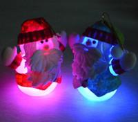 Wholesale Santa Claus Christmas decorative lantern PVC indoor decorative lighting