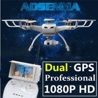 GPS drone professionnel avec caméra HD FPV rc hélicoptère quadrocopter dron quadcopter télécommande aérienne photographie copter droni drones