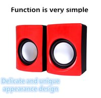 Wholesale TV computer speakers mini stereo USB mobile phone and laptop speakers four color optional DHL