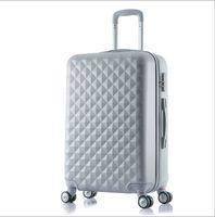 aluminum spinner luggage - fashion women and men ABS Aluminum Alloy Trolley Luggage Fashion travel case inches sliding suitcase