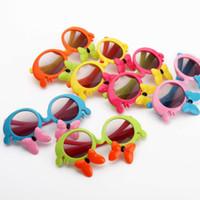 al por mayor gafas de sol del cabrito-2017 Las gafas de sol de la manera de las muchachas de los cabritos arquean las cortinas los niños de los niños de las gafas de sol del diseñador de las muchachas del verano de fishonTrendy enmarcan los sungalsses 6colors