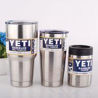 Wholesale YETI oz oz oz Cups Cooler Yeti Rambler Tumbler Travel Vehicle Beer Mug Double Wall Bilayer Vacuum Insulated
