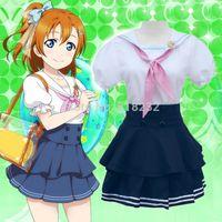 Wholesale School Sailor Outfits - Lovelive Love Live Kousaka Honoka Navy Sailor Suit School Uniform Dress Outfit Anime Cosplay Costumes