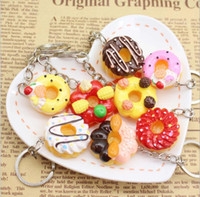 Wholesale Random doughnuts New Arrive Food mini cupcakes egg tarts charm Cute bread pendant fashion