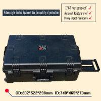 Wholesale trolley Tool case waterproof safety equipment box Plastic sealed case tool box with pre cut foam lining mm