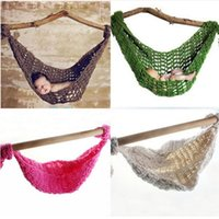 baby swing hammock - High Quality Baby Newborn Photography props Photo Crochet Hammock Knitted Infant Costume Toddler Photo Props Months Swing Bed