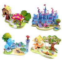 Wholesale price D kids toys puzzle Bedroom Kitchen Living room Bathroom paper model building kit toys gift for children girls and boys