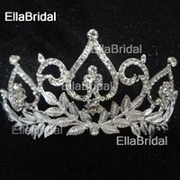 Wholesale Real Photo New Style Bridal Crown High Quality Leaf Crystal Tiara Bridal Hair Accessory Wedding Hair Jewelry Headdress Factory Headpiece