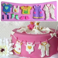 baby shower fondant - Silicone D Baby Shower Fondant Mould Chocolate Baking Mold Tools Cake Decor Kitchen Baking Accessories AC007