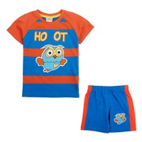 Wholesale In the summer of the new nova novatx cartoon suits with short sleeves cartoon with short sleeves two piece blue and orange stripes