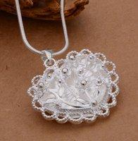 Wholesale S925 silver fashion hollow heart shaped pendant