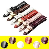 achat en gros de outils pour cuir-Réplique de montre en cuir véritable pour Tissot 1853 Montre T035 Montre de femme 18mm Rose pourpre + Outils