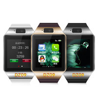 Android Turkish Push Message DZ09 Smart Watch With SIM Card For Apple Samsung IOS Android Cell phone 1.56 inch Free DHL smartwatches