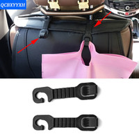 Wholesale 2pcs Universal Cute Car Back Seat Headrest Hanger Holder Hook for Bag Purse Cloth Grocery Storage Auto Fastener Clip