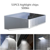 Wholesale Solar Wall Light with Motion Sensor Highlight Outdoor Solar Wall Lamps LED Chips Garden Lamps